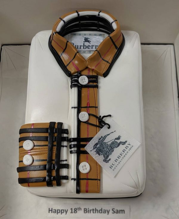 designer shirt cake